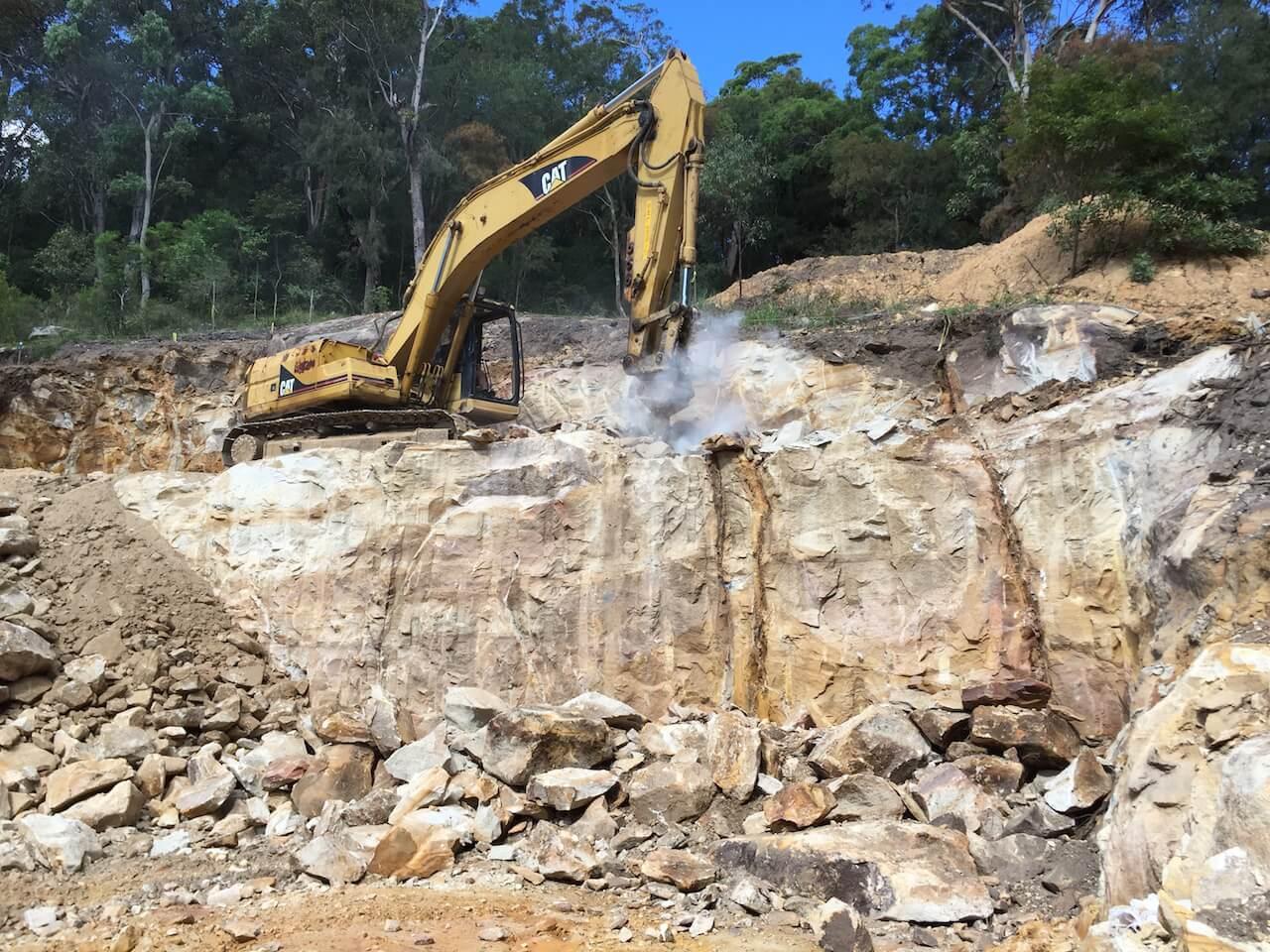Excavator hire Sydney - Blueprint Built