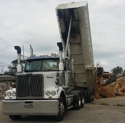 Semi Tipper Excavator hire Sydney Central Coast