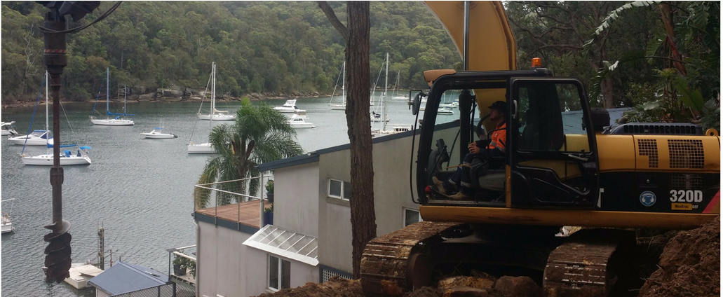 Tight access excavation - Blueprint Built Sydney